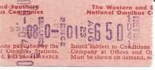 Setright Speed Ticket - The Western & Southern National Omnibus Companies Ltd.
