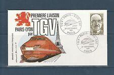 FRa/ enveloppe  TGV   Paris Lyon  sud est  75  Paris    1981