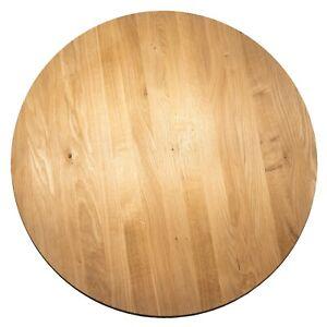 Runde Tischplatte Kaffeetisch Massivholzplatte Esstisch Eiche Wildeiche 26mm roh