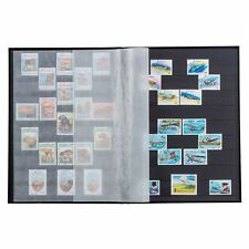 Stamp Collection Album 6.5 x 9 32 Black Pages Lighthouse Blue New Stockbook