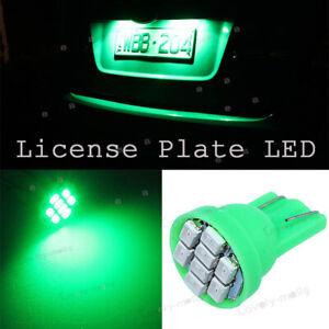 T10 8SMD 5050 LED GREEN 2825 168 194 558 501 License Plate Lights Tag Bulb 12V