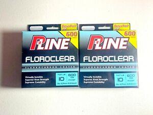 P-Line Floroclear Fishing Line 10Lb 600YDS Lot of 2