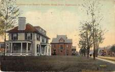 Salamanca New York Broad Street Fancher Residence Antique Postcard J60758