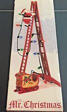 Mr. Christmas Animated Stepping Ladder Santa 15 Carols Songs Lighted Musical