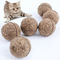 1Pc Nature Cat Mint Ball Play Toys Ball Coated With Catnip & Bell Toy For Pet FO