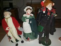 3 -DEPT 56 Heritage Village Dickens Christmas Carol Large Doll Scrooge Wife 24""