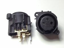 Lot 2 Neutrik NC3FAV2-0 3-Pole Female XLR - Circuit Board Mount XLR Connector