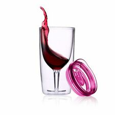 TraVino Spillproof Wine Sippy Cup - Pink travel wine glass
