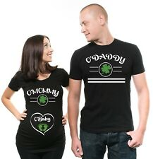 St Patrick day Pregnancy announcement Maternity Ireland Couple Pregnancy Shirts