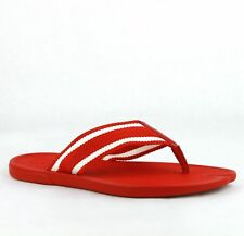 New Gucci Red Rubber Sandals with White Stripes 391366 7567