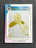 2014-15 UD THE CUP LAURENT BROSSOIT ROOKIE MASTERPIECES PRINTING PLATE #ed 1/1