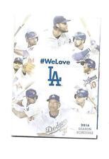 Los Angeles Dodgers MLB Mini Pocket Schedule 2016