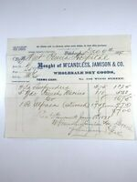 Western Pennsylvania Hospital 1870 Invoice McCandless Jamison Dry Goods F210