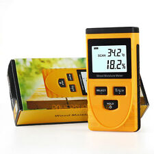 NEW Digital Wood Moisture Meter Temperature Humidity Tester Induction Hygrometer