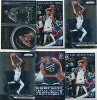 LOT (10) KARL-ANTHONY TOWNS MINNESOTA TIMBERWOLVES - 2018-19 PRIZM OPTIC - 3348