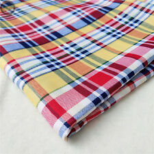 Plaid Checks Printed Tartan GINGHAM Fabric Poly Cotton Dress Quilt Upholstery