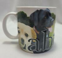 Labrador Mug Yellow Black Chocolate Lab Coffee Cup Large Embossed America Ware