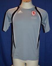 Trikot / T-Shirt vom FC Middlesbrough, Größe S, von adidas, Grau  -Selten-