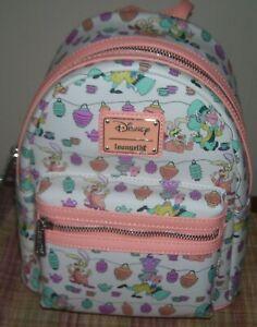 Loungefly Disney Alice in Wonderland AOP Mad Hatter Mini Backpack Bag NEW
