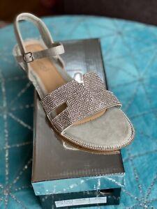 Kelsi Women's Diamanté Silver Sandals
