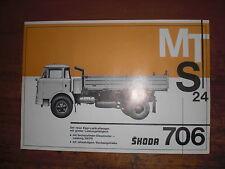 Prospekt Sales Brochure Skoda MTS 24 706 6-Zylinder LKW Truck camion автомобиль