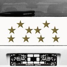 10 Klebesterne 8cm Sterne gold Auto Aufkleber Tattoo decal die cut Deko Folie