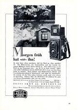 Fotocamera Zeiss IKOFLEX III insegne 1938 cassetta delle lettere lettera d'amore + Pubblicità