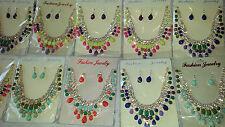 Joblot 10 pcs Diamante sets - Necklace & Earrings Wedding Prom wholesale A1