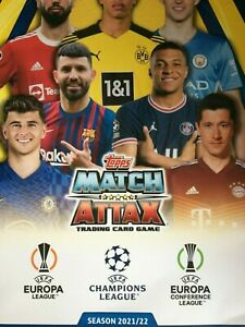 MATCH ATTAX 2021/22 CHOOSE YOUR CARDS FROM LIST NUMBERS 190-387 TACTIC