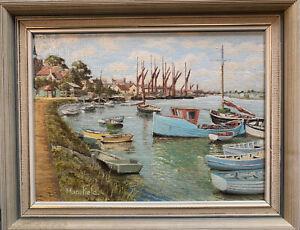 Original Miniature Painting By W C Mansfield Of Maldon Essex ' High Tide' Scene