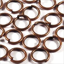 Lot 50 Anneaux de Jonction 8mm Métal Cuivré Pour création de bijoux