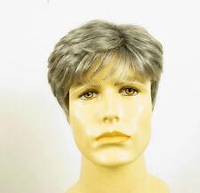 Perruque homme 100% cheveux naturel grise poivre et sel FRED 44