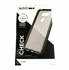 Tech 21 Evo Check Case Slim Cover For LG V30 Smokey Black NEW