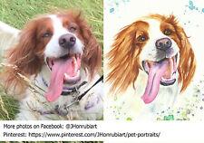 CUSTOM portrait painting of your pet, Size A4 (COMMISSION)