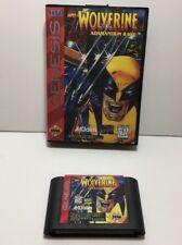 Wolverine Adamantium Rage Boxed Genuine Sega Genesis