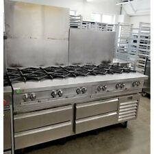 Southbend 12 Burner Range Natural Gas With 4 Drawer Refrigerated Chef Base 72