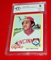 1978  BASEBALL  DAVE CONCEPCION TOPPS CARD # 180 BCCG 9 NM OR BETTER
