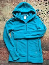 Adidas Women' Fleece Green Full Zip Hoodie Sweatshirt Size Medium