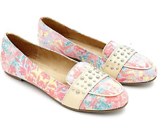 Avon Cushion Walk Spring Floral Loafer Sz 7 Slip-on Flats Shoes Stud Coral Pink