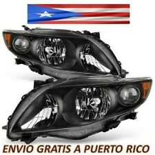For 09 10 Toyota Corolla Headight Black Housing Clear Lens Headlamps 2009 2010