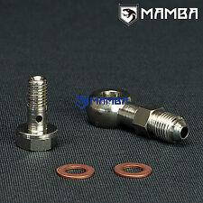 Banjo Bolt Kit 4AN to M8x1.25 Turbo oil Feed HT06 RHF3 RHB3 1.5mm Restrictor