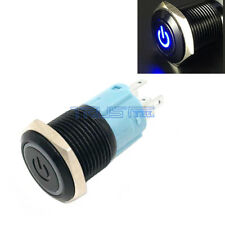 16mm 12V Latching Push Button Black  LED Power Momentary Switch Waterproof