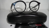 RAY BAN Frame RX Eyeglasses New Round Shiny Black RX7110 2000 46 20 145