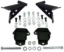 1955-57 Chevy Belair V-8 Motor Mount Bracket Kit with Mounts, Side Mount, Black
