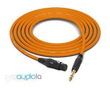 Canare Quad L-4E6S Cable | Neutrik Gold XLR-F TRS | Orange 225 Feet | 225 Ft.