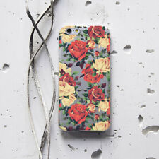 Floral iPhone XS Max Case iPhone 7 Plus Silicon Cover Rose Flower iPhone XR Snap