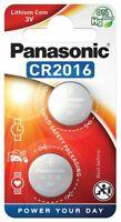 2 x Panasonic CR2016 Mini-Lithium-Batterie 3V 90mAh Knopfzelle (Blister)