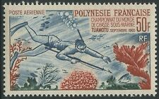 POLYNESIE PA N°14** Chasse sous-marine TB, 1965 French Polynesia MNH