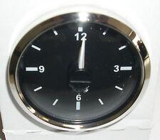 QUARZ UHR  ZEITUHR  CLOCK 12V & 24V 52mm Schwarz mit Chromrand 2732127