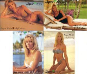 Kelly Emberg 1993 Portfolio swimsuit 4 card insert set Sports Illustrated model